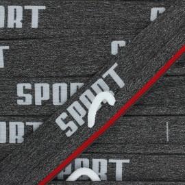 Elastique plat Sportif - gris chiné x 85cm