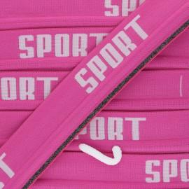 Elastique plat Sportif - rose x 88cm