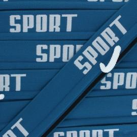 Elastique plat Sportif - bleu lagon x 84cm