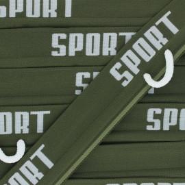 Flat elastic - khaki green Sportif x 84cm