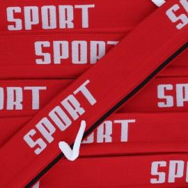 Elastique plat Sportif - rouge x 85cm