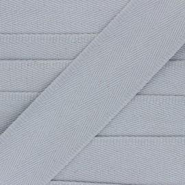 Sangle coton unie 56 mm - gris perle  x 1m