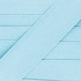 56 mm plain cotton Strap - sky blue x 1m