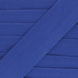 56 mm plain cotton Strap - electric blue x 1m