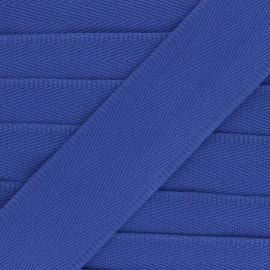 Sangle coton unie 56 mm - bleu électrique  x 1m