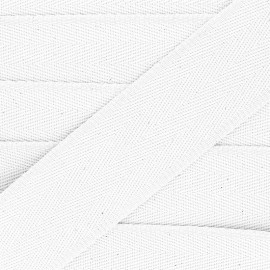 56 mm plain cotton Strap - white x 1m