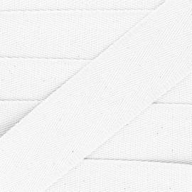 Sangle coton unie 56 mm - blanc  x 1m