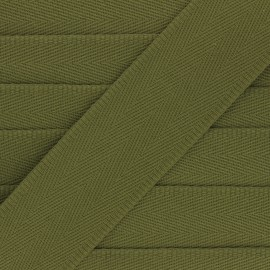 56 mm plain cotton Strap - khaki green x 1m
