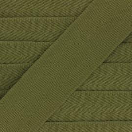 Sangle coton unie 56 mm - vert kaki  x 1m