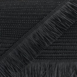 Galon à Franges Raphia - noir x 1m