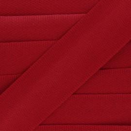 Sangle coton unie 56 mm - rouge  x 1m