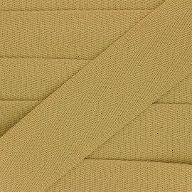 56 mm plain cotton Strap - ochre x 1m