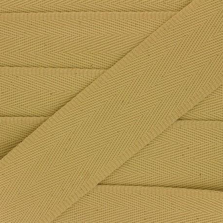 56 mm plain cotton Strap - ochre x 1m
