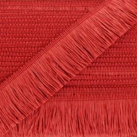 Rafia Fringe Trimming Ribbon - red x 1m