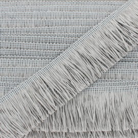 Rafia Fringe Trimming Ribbon - grey x 1m