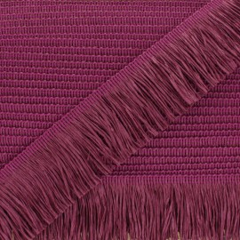 Rafia Fringe Trimming Ribbon - purple x 1m