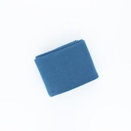 Poppy Plain Edging Fabric (135x7cm) - Swell blue