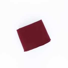 Poppy Plain Edging Fabric (135x7cm) - Burgundy