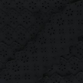 Broderie Anglaise Natacha 75 mm - noir x 1m