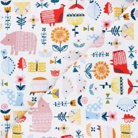 Cotton Dashwood Studio fabric - raw Gathering Hibernate x 10cm