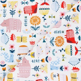 Tissu coton Dashwood Studio Hibernate - Gathering - écru x 10cm