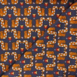 Cotton Dashwood Studio fabric - Flowery Squirrel x 10cm