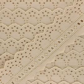 60 mm English Embroidery ribbon - beige  Esmée x 1m