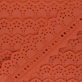Broderie Anglaise passe-ruban Esmée 60 mm - orange x 1m
