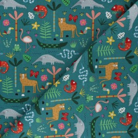 Cotton Dashwood Studio fabric - Into the Jungle Habitat x 10cm