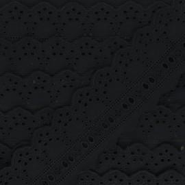 Broderie Anglaise passe-ruban Esmée 60 mm - noir x 1m