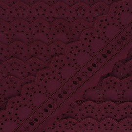 60 mm English Embroidery ribbon - grape purple Esmée x 1m
