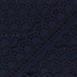 Broderie Anglaise passe-ruban Esmée 60 mm - bleu nuit x 1m