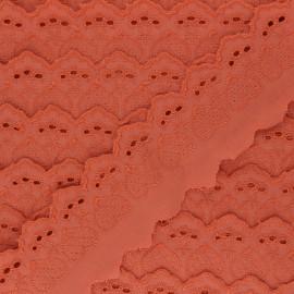 55 mm English Embroidery - orange Lucine x 1m