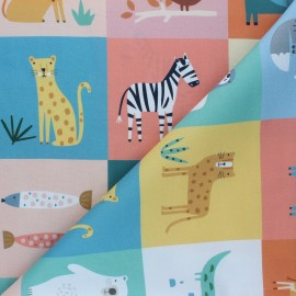 Tissu coton panneau Dashwood Studio Habitat - Squares x 61,5cm