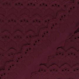 55 mm English Embroidery - grape purple Lucine x 1m