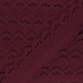 Broderie Anglaise Lucine 55 mm - prune x 1m
