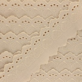 Broderie Anglaise Lucine 55 mm - beige x 1m