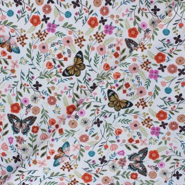 Cotton Dashwood Studio fabric - Floral Butterfly Aviary x 10cm
