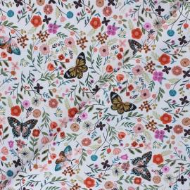 Tissu coton Dashwood Studio Aviary - Floral Butterfly x 10cm