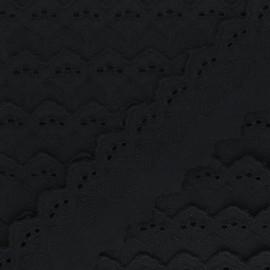 Broderie Anglaise Lucine 55 mm - noir x 1m