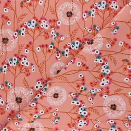 Tissu coton Dashwood Studio Aviary - Pretty Dandelion - rose x 10cm
