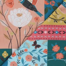 Cotton Dashwood Studio panel fabric - Birds Aviary x 61,5cm