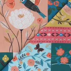 Tissu coton panneau Dashwood Studio Aviary - Birds x 61,5cm