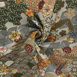 Tissu viscose Yin - grège x 10cm