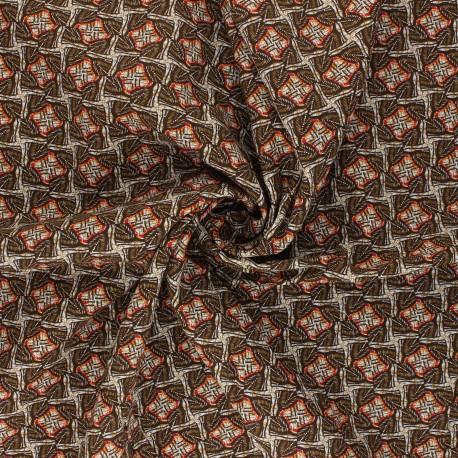 Tissu viscose Tanzania - orange x 10cm
