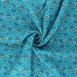 Tissu viscose Irène - bleu canard x 10cm