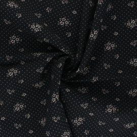 Tissu viscose Gabrielle - noir x 10cm