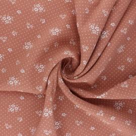 Tissu viscose Gabrielle - rose thé x 10cm