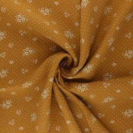 Tissu viscose Gabrielle - miel x 10cm