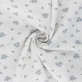 Tissu viscose Gabrielle - blanc x 10cm
